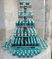 Beach Themed Cupcake Wedding Cakes with Five Tier