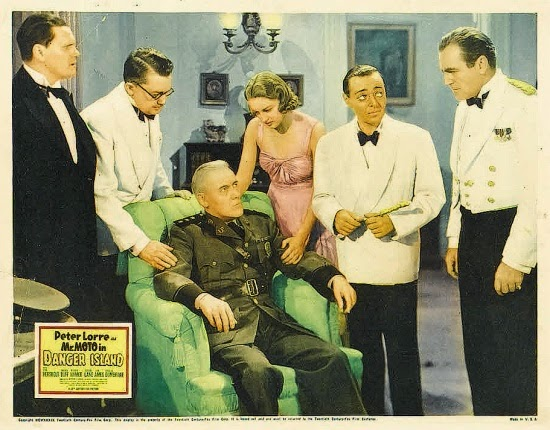 Mr. Moto in Danger Island Vintage 1932 Film Poster Starring Peter Lorre, Jean Hersholt, Amanda Duff, with Warren Hymer