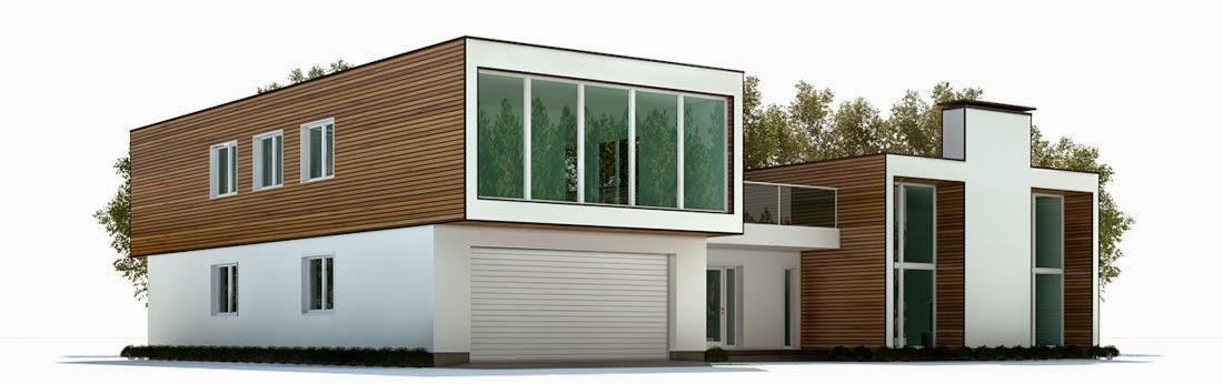 Plantas de casas modernas planta de casa moderna ch322 for Casa moderna 8