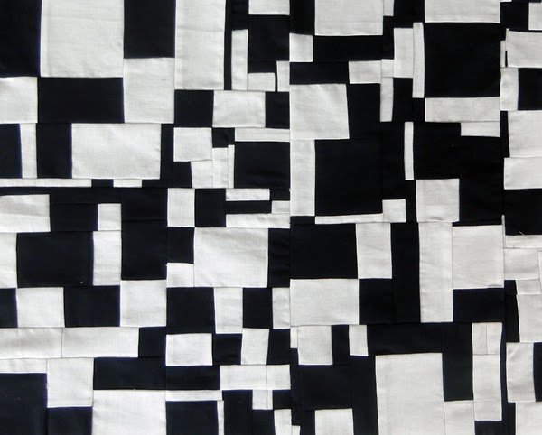 black and white patchwork,