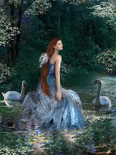 mujer y cisnes, poemas