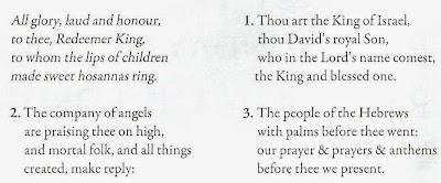 hymn sheet