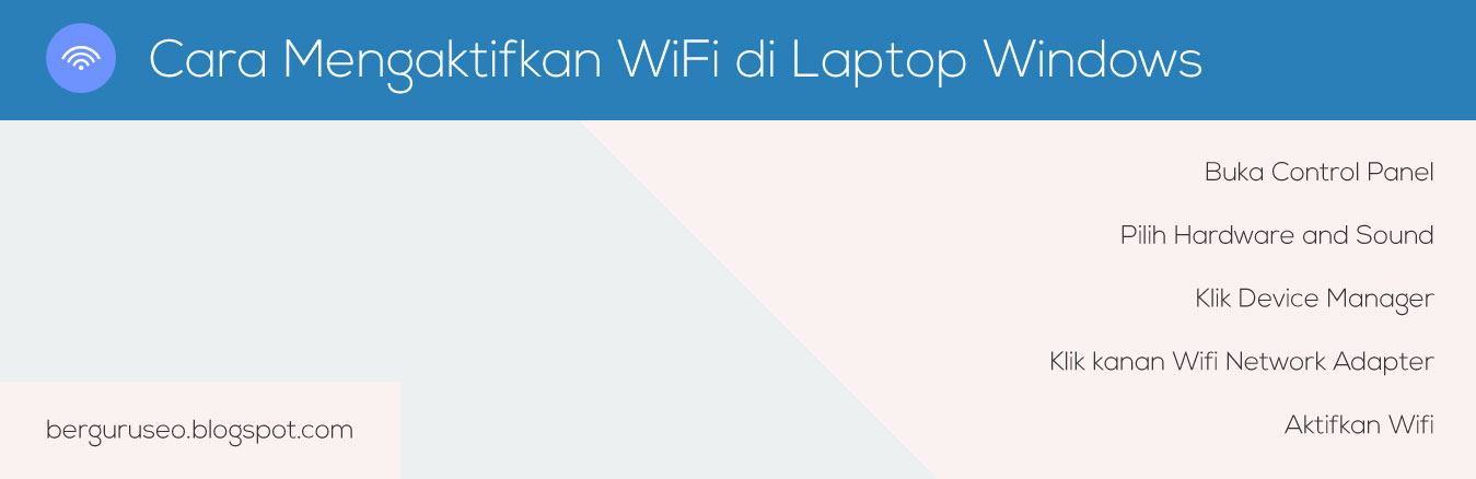 Cara Mengaktifkan WiFi di Laptop Windows