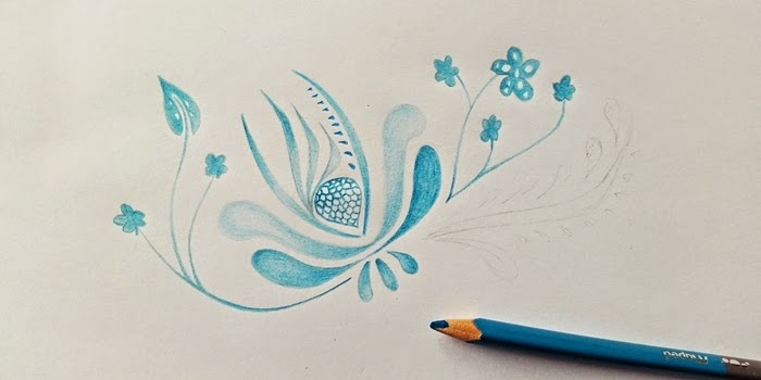 L Atelier Metallique Dessin Printanier Au Crayon En Bois