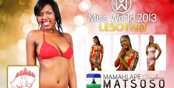 Miss Lesotho World 2013 winner Mamahlape Caroline Matsoso