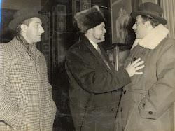 Con el actor Orson Welles.