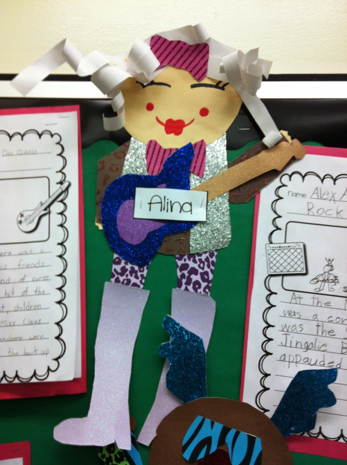 As always, we wrote a class story together and I made models. I made a ...