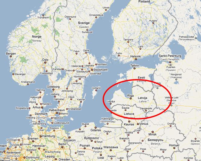 Donde queda letonia