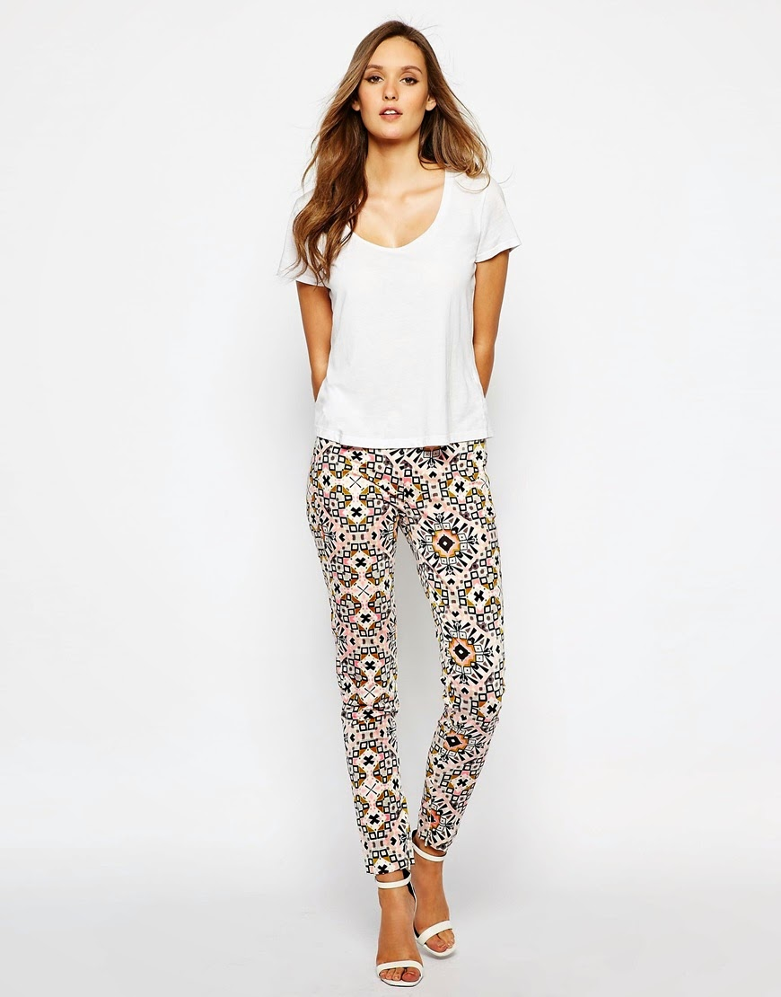 french connection printed trousers,