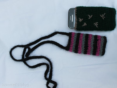 Crochet Cell phone Case with stripes