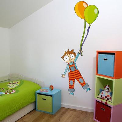 Decoracion actual de moda paredes decoradas con dibujos - Decoracion para paredes ...