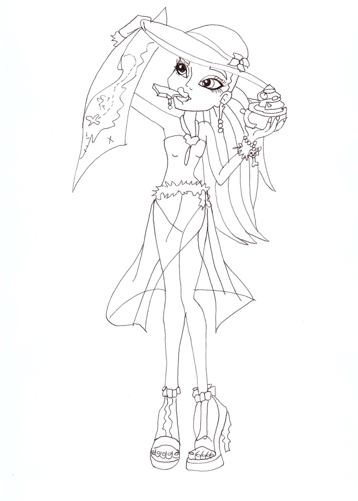 Free Printable Monster High Coloring Pages Abbey Skull