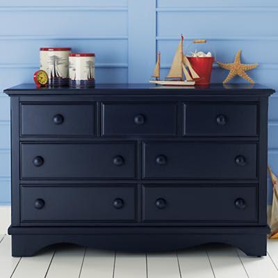 Blessed beyond measure hayden 39 s 25 craigslist dresser for Navy blue painted furniture