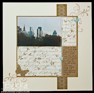 Bekka's Love London Scrapbook Page with Attic Boutique Papers by Stampin' Up! www.feeling-crafty.co.uk