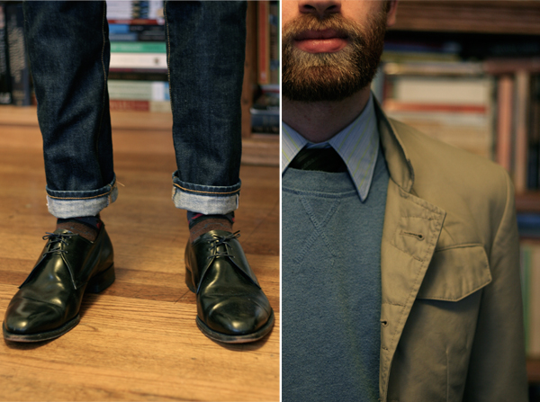 mens dress shoes and jeans