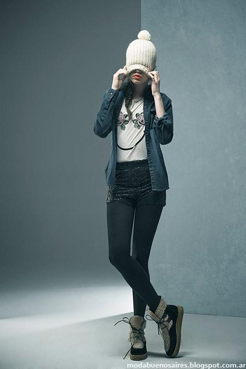 Camisas de jeans moda juvenil otoño invierno 2015 Doll Store.