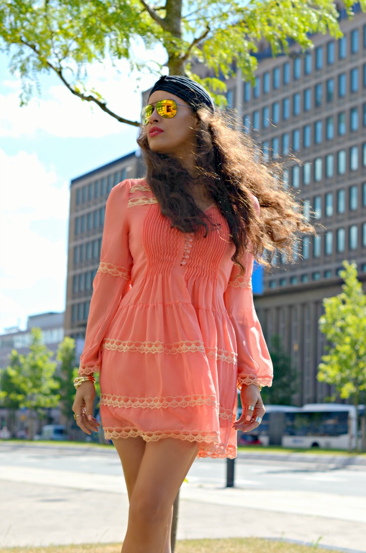 H&M gladiator sandals,Jacky Luxury dress,Yellow mirrored sunglasses,trendy,summer outfit,black turban, /></a></div> <br /> <div style=
