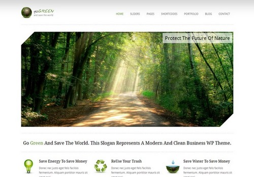 GoGreen 16 Best 2012 Free WordPress Themes