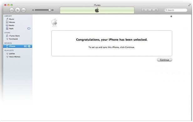 Your iPhone 5 are Unlock - iTunes