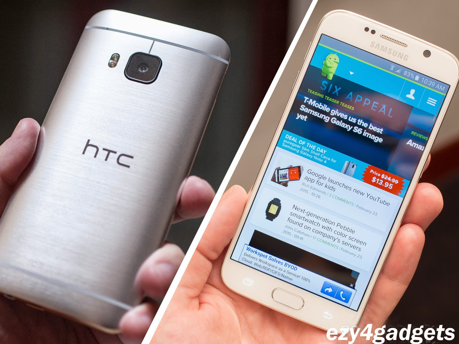 Samsung Galaxy S6 Edge rather than the HTC One M9 - Ezy4Gadgets