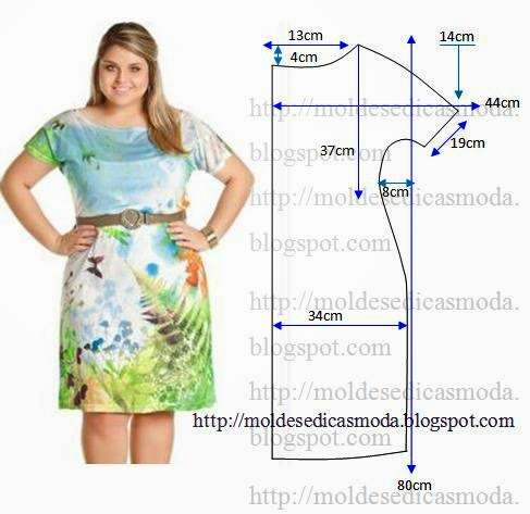 Сшить платье без выкройки для полных женщин