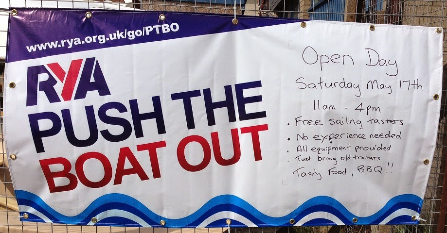 Push the Boat Out Poster at Dundee Sailing Club at Grassy Beach