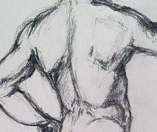 detalle del la copia del dibujo de rafael