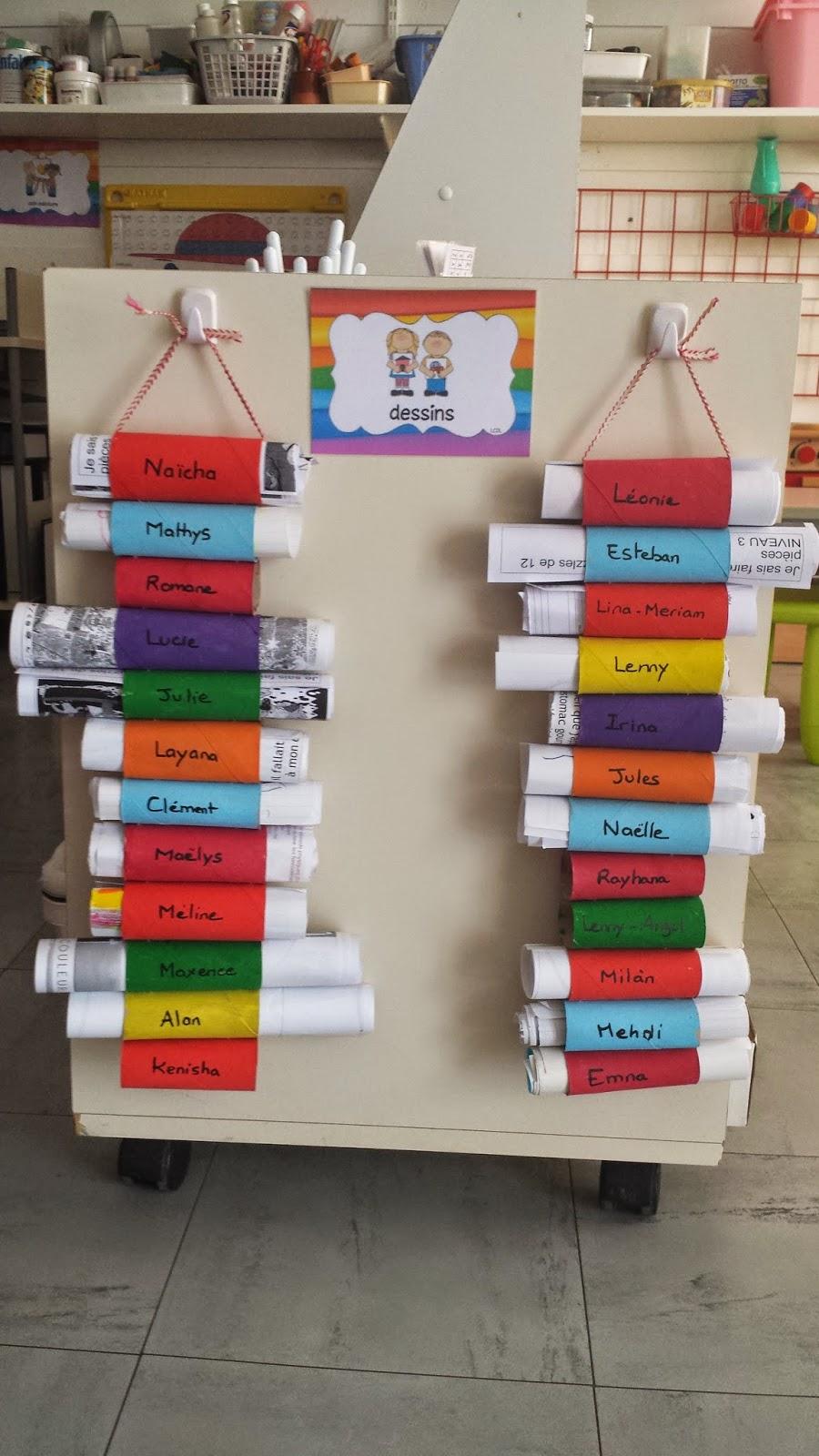 La maternelle de laur ne ranger les dessins for Range rouleau papier toilette