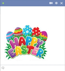 Facebook Happy Easter Emoticon