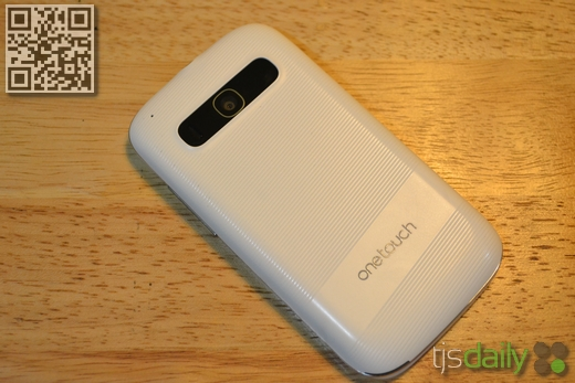 alcatel one touch blaze 985n back review