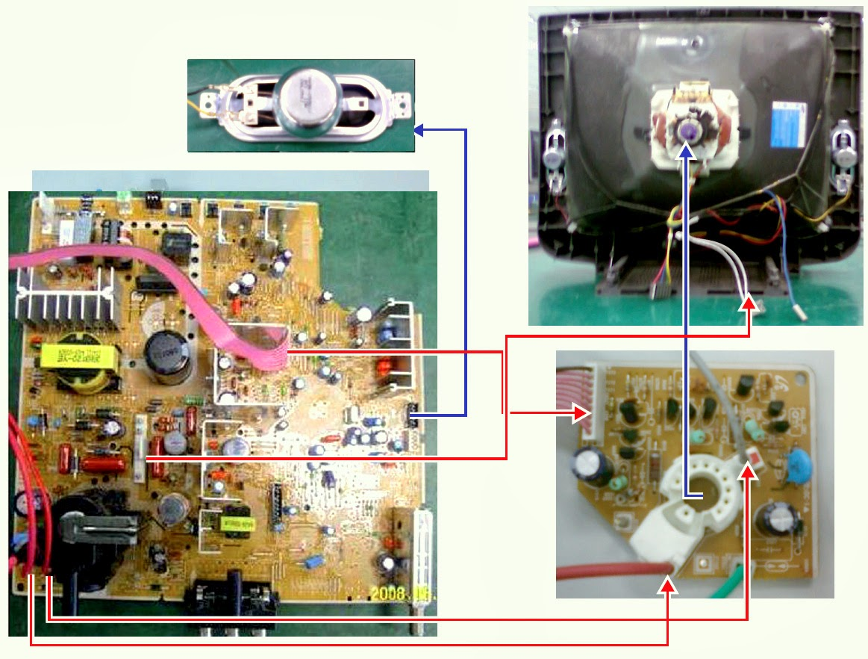 Samsing Slim Crt Tv Cl14b501kjmxzd Power Supply Smps Str Usb Control Board Wiring Diagram W6753f Schematic Circuit
