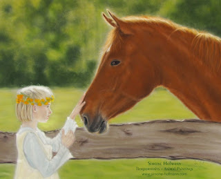 Tierportrait - Pferdeportrait, Pferd von Tiermalerin Simone Hofmann malen lassen.