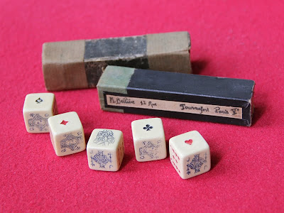 Vintage French Poker Dice