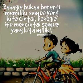 Bahagia dengan cinta
