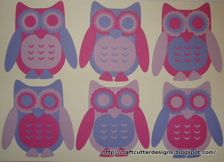 craft cutter designs cute owls craft cutter template