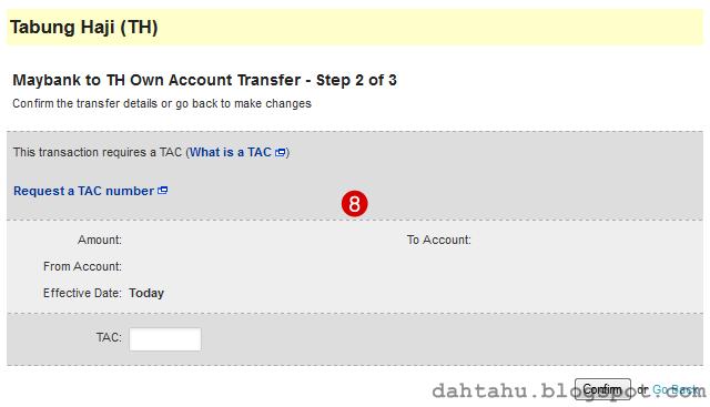 Maybank2u Maybank Transfer ke Tabung Haji 2-8