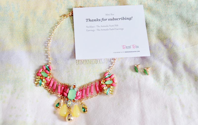 My first Bezel Box Mini came with the Armada Pastel bib necklace and matching Armada Pastel earrings.