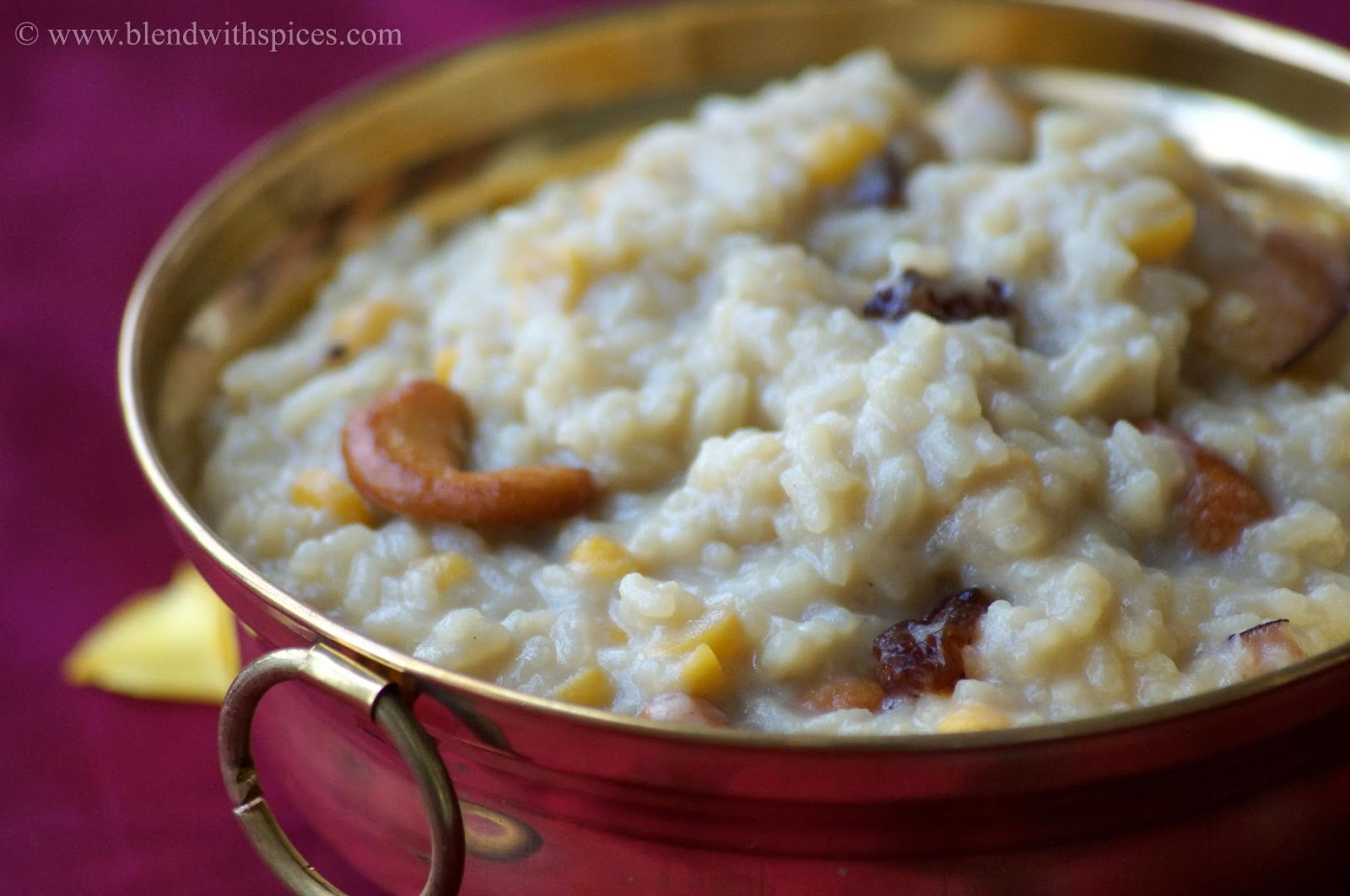 how to make pongali, pongali prasadam, sweet pongal naivedyam, how to prepare sweet pongal, recipe for bellam pongali
