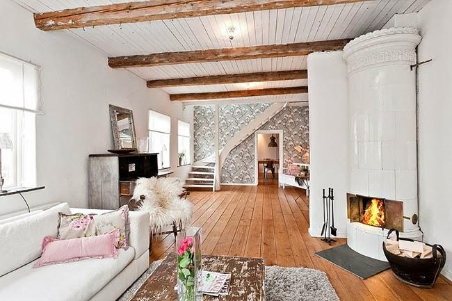 Industrial vintage house home shabby home arredamento interior craft - Casa nordica arredamento ...
