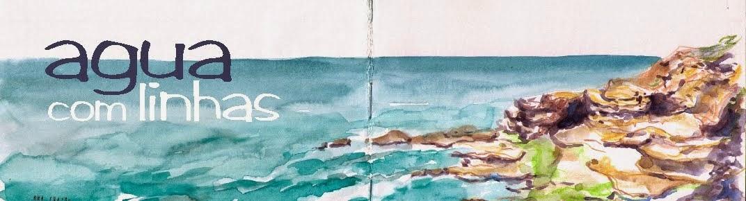 agua com linhas