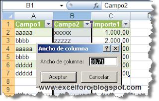 Autoajustar el ancho de columnas al actualizar una tabla dinámica.
