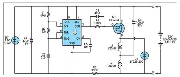 12V Lead Acid Battery Desultorily Circuit Diagram ...