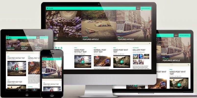fullby responsive free wordpress template 2014 blogger template ads