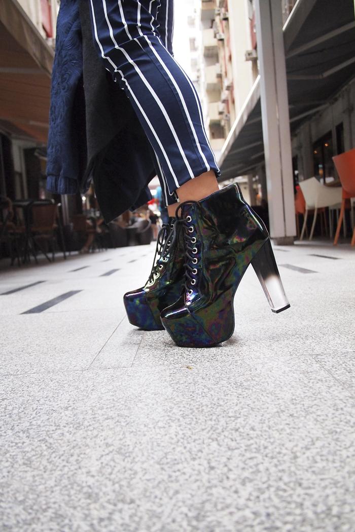 outfit details: Jeffrey Campbel Lita holographic heels.