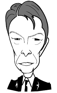 David Bowie caricature by Ian Davy Brown