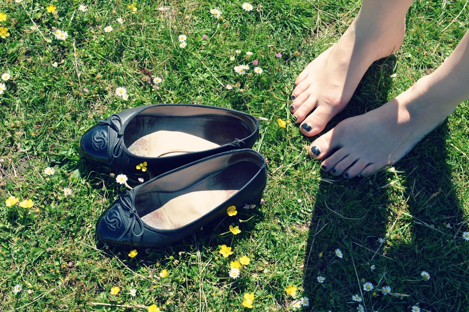 chanel shoes flowers festival outdoors sunshine