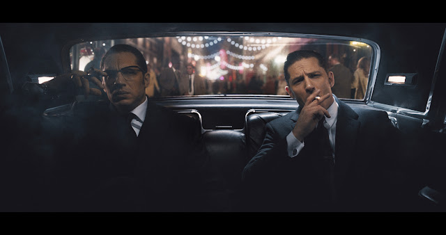 Tom Hardy as Reg & Ronnie Kray in Legend