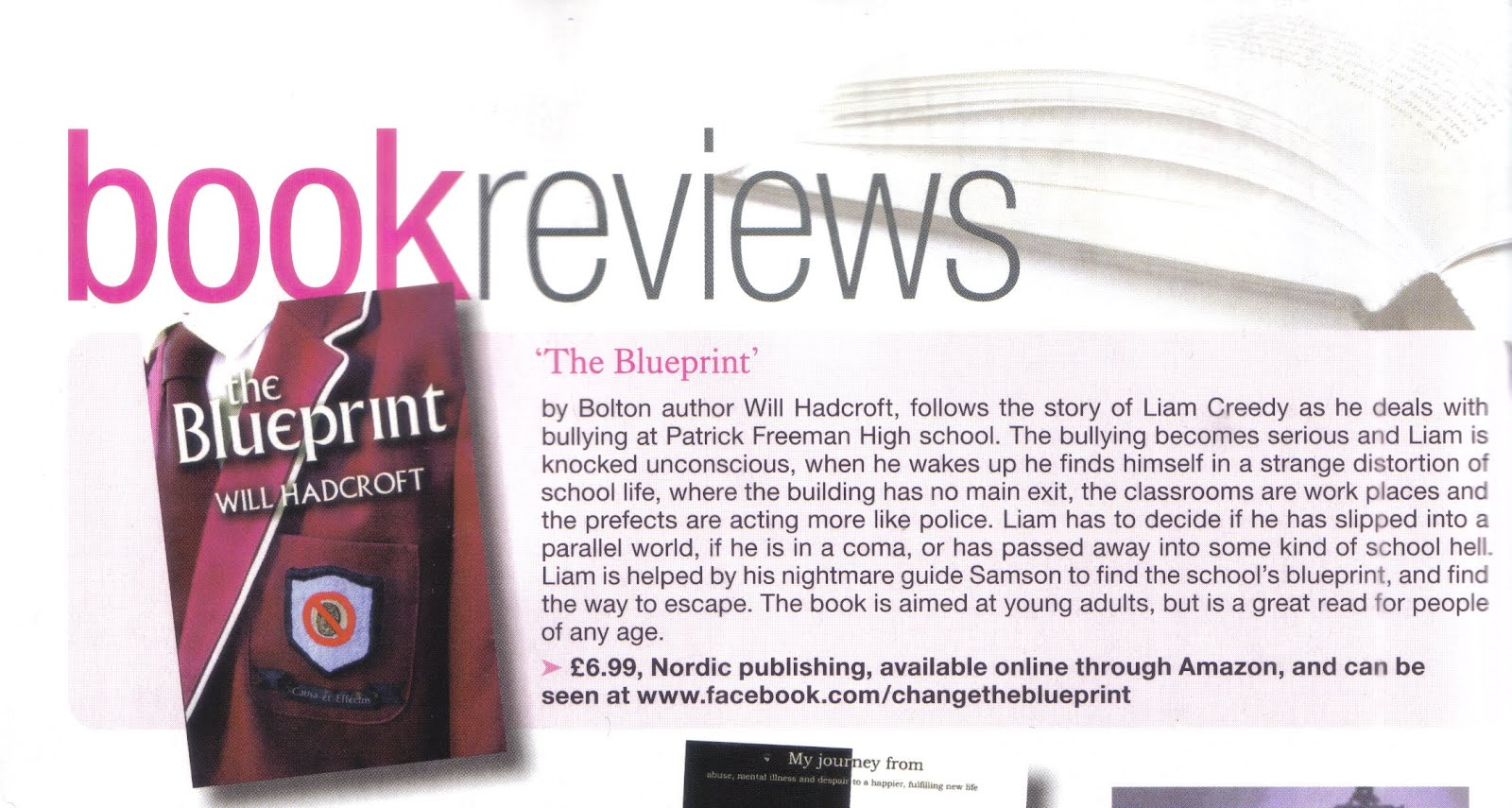 Will hadcroft the blueprint reviewed in lancashire magazine lancashire magazine which boasts the largest readership in english county magazines has published a review of my latest novel the blueprint malvernweather Choice Image