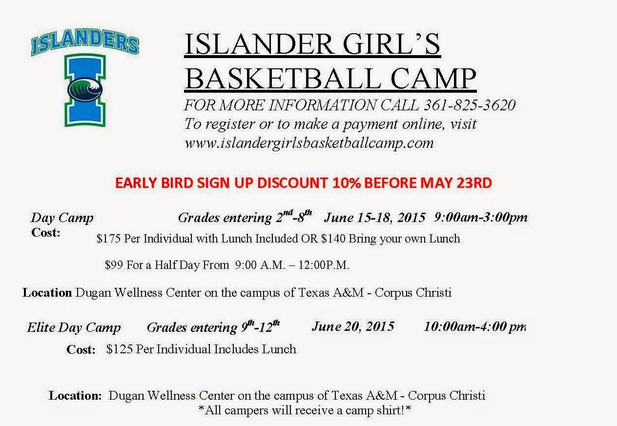 Corpus christi area summer camps 2015 corpus christi fun for kids islander girls basketball camps xflitez Gallery