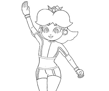 #8 Princess Daisy Coloring Page